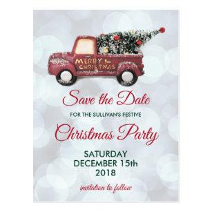 christmas party save the date postcards zazzle au
