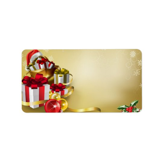Christmas design address label
