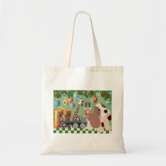 Christmas Design Budget Tote Canvas Bags