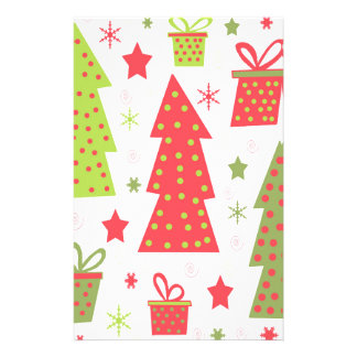 Christmas design - green and red personalised stationery