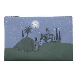 Christmas design on bag. travel accessory bag