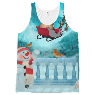 Christmas design, Santa Claus All-Over Print Singlet