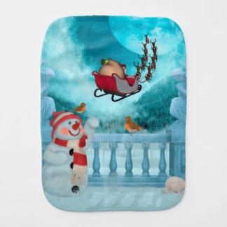 Christmas design, Santa Claus Burp Cloth