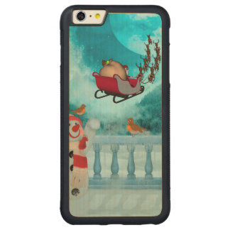 Christmas design, Santa Claus Carved Maple iPhone 6 Plus Bumper Case