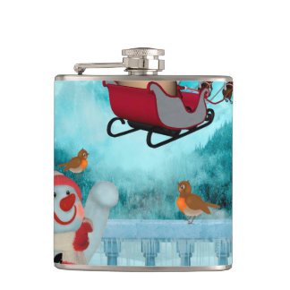 Christmas design, Santa Claus Hip Flask