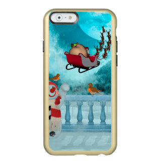 Christmas design, Santa Claus Incipio Feather® Shine iPhone 6 Case