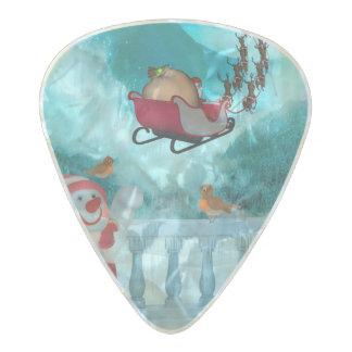 Christmas design, Santa Claus Pearl Celluloid Guitar Pick
