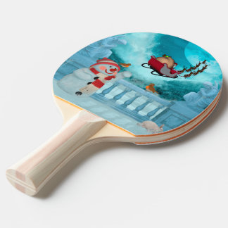Christmas design, Santa Claus Ping Pong Paddle