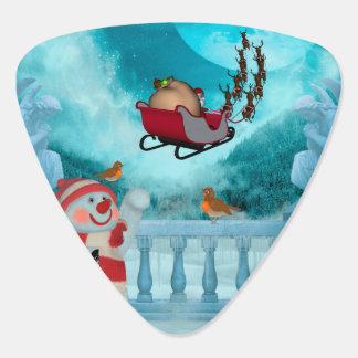 Christmas design, Santa Claus Plectrum