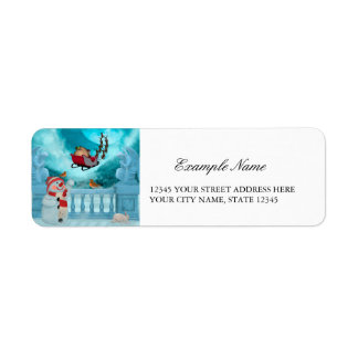 Christmas design, Santa Claus Return Address Label