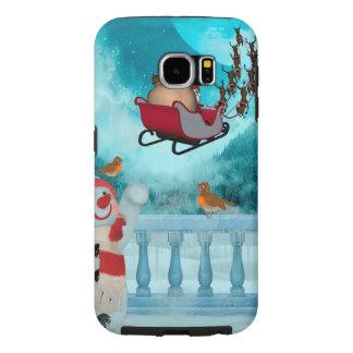Christmas design, Santa Claus Samsung Galaxy S6 Cases