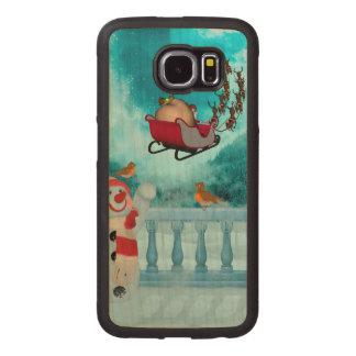 Christmas design, Santa Claus Wood Phone Case
