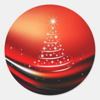 CHRISTMAS DESIGNS CLASSIC ROUND STICKER