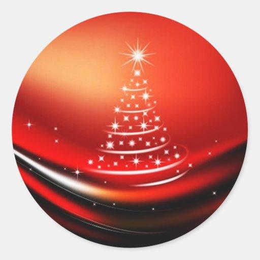 CHRISTMAS DESIGNS ROUND STICKERS