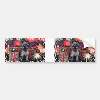 Christmas - Dexter - Cairn Bumper Sticker