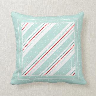 Christmas Diagonal Stripes Mint ID440 Cushion