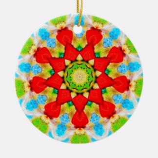 Christmas Dinner Plate Fractal Ceramic Ornament