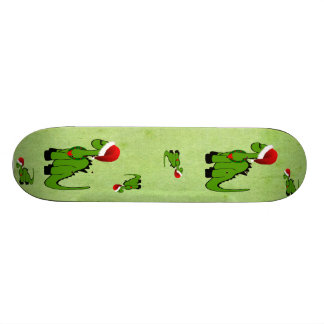 Christmas Dinosaur 19.7 Cm Skateboard Deck