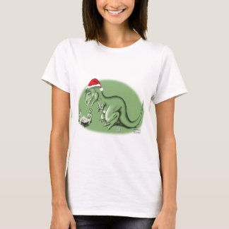 Christmas Dinosaur at the Manger T-Shirt