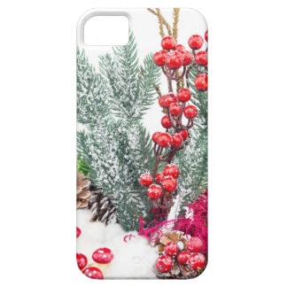 Christmas dish with berries mushrooms decoration barely there iPhone 5 case