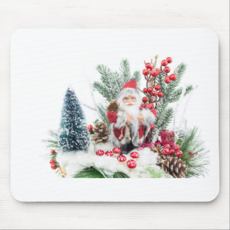Christmas dish with santa Claus and decoration Mouse Pad