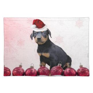 Christmas Doberman Pinscher  placemat