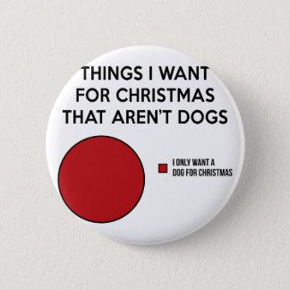 Christmas Dog 6 Cm Round Badge