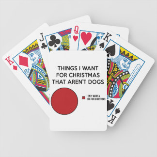Christmas Dog Bicycle Playing Cards