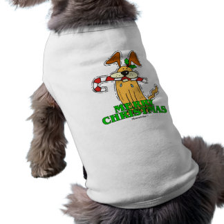 Christmas Dog & Candy Cane. Shirt