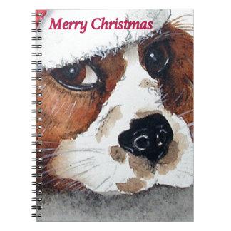 Christmas Dog Cards cocker spaniel Note Book