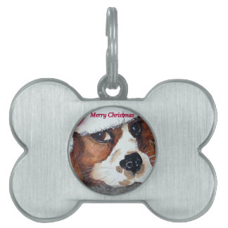 Christmas Dog Cards cocker spaniel Pet Tags