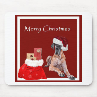 Christmas Dog Great Dane Mouse Pad