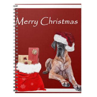 Christmas Dog Great Dane Notebook