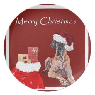 Christmas Dog Great Dane Plate
