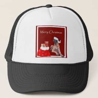 Christmas Dog Great Dane Trucker Hat