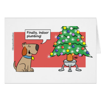 Christmas - Dog indoor plumbing Card