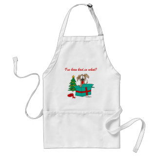 Christmas Dog I've Been Bad So What? Standard Apron