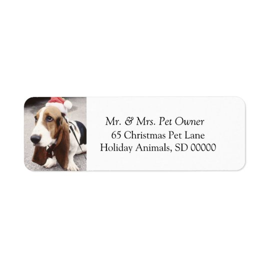 Christmas Dog Make Holiday Cards Address Label