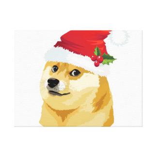 Christmas doge - santa doge - christmas dog canvas print