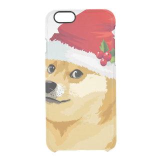 Christmas doge - santa doge - christmas dog clear iPhone 6/6S case