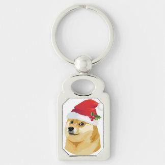 Christmas doge - santa doge - christmas dog key ring