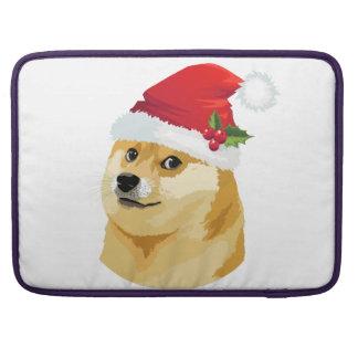 Christmas doge - santa doge - christmas dog sleeve for MacBooks