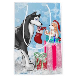 Christmas Doggies! Medium Gift Bag