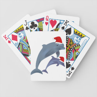 Christmas Dolphin Bicycle Playing Cards