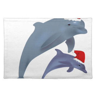 Christmas Dolphin Placemat
