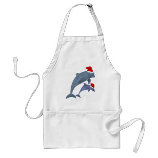 Christmas Dolphin Standard Apron
