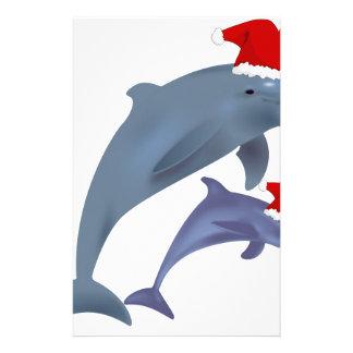 Christmas Dolphin Stationery