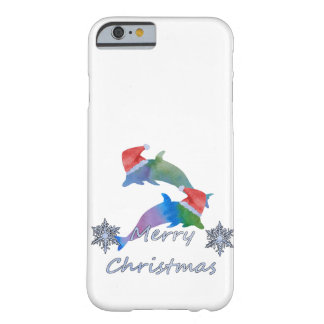 Christmas Dolphins Barely There iPhone 6 Case