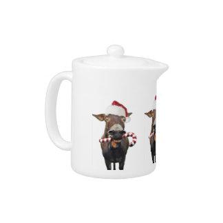 Christmas donkey - santa donkey - donkey santa