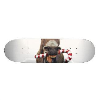 Christmas donkey - santa donkey - donkey santa 21.6 cm old school skateboard deck
